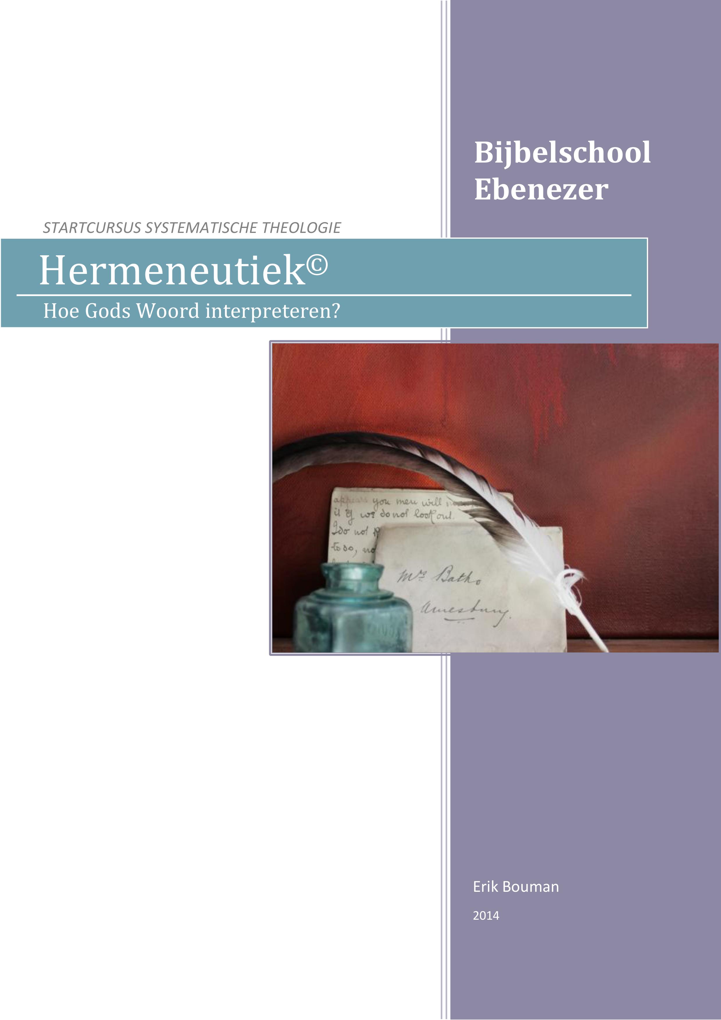 Cursus Hermeneutiek